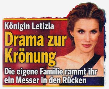 Königin Letizia - Drama zur Krönung - Die eigene Familie rammt ihr ein Messer in den Rücken
