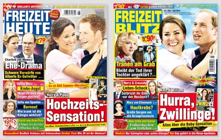 """Screenshot der Titelseiten von """"Freizeit heute"""" und """"Freizeit Blitz"""""""
