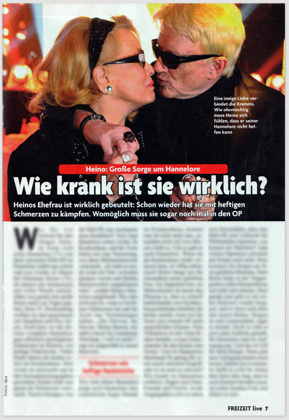 Heino: Große Sorge um Hannelore - Wie krank ist sie wirklich?