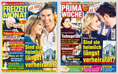 """Screenshot der Titelseiten von """"Freizeit Monat"""" und """"Prima Woche"""""""
