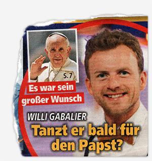 Willi Gabalier - Tanzt er bald für den Papst?