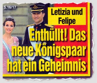 Letizia und Felipe - Enthüllt! Das neue Königspaar hat ein Geheimnis