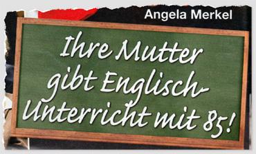 Angela Merkel - Ihre Mutter gibt Englisch-Unterricht mit 85!