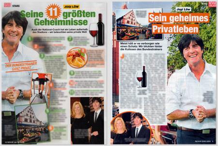 """Gegenüberstellung der Artikel von """"Revue der Woche"""", Nr. 7/2014, und """"Revue exklusiv"""", Nr. 7/2014"""