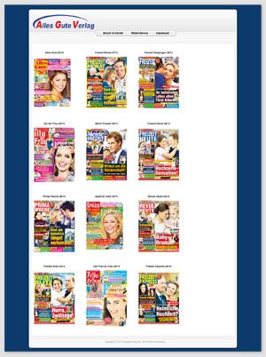 Screenshot der Homepage des Alles Gute Verlags