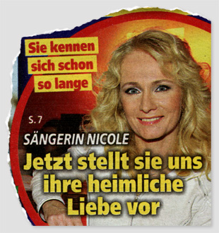 Sie kennen sich schon so lange - Sängerin Nicole - Jetzt stellt sie uns ihre heimliche Liebe vor