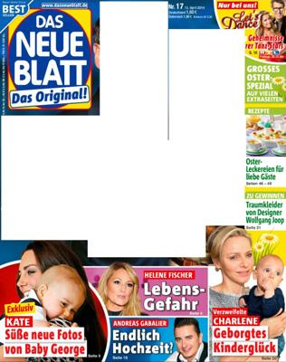 """Mit weißen Flächen versehenes Cover von """"Das neue Blatt"""""""