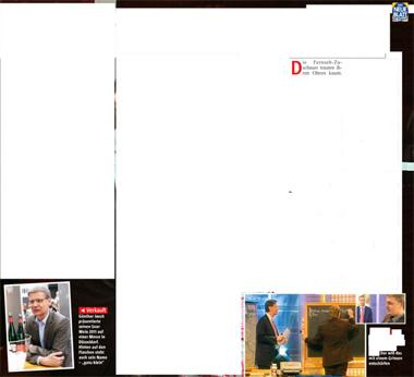 Mit weißen Flächen versehener Artikel über Günther Jauch.