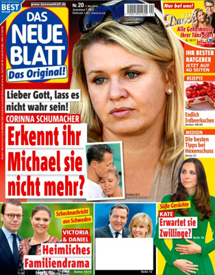 """Mit weißer Fläche versehenes Cover von """"Das neue Blatt"""""""