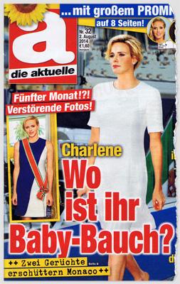 Fünfter Monat!?! Verstörende Fotos! Charlene - Wo ist ihr Baby-Bauch? Zwei Gerüchte erschüttern Monaco