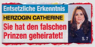 Entsetzliche Erkenntnis - Herzogin Catherine - Sie hat den falschen Prinzen geheiratet!