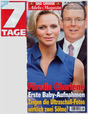 Fürstin Charlene - Erste Baby-Aufnahmen - Zeigen die Ultraschall-Fotos wirklich zwei Söhne?