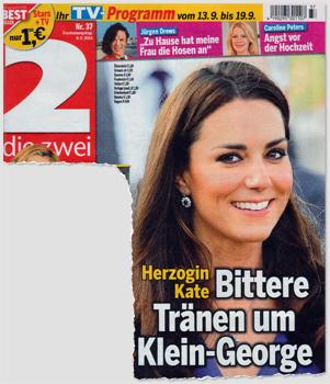 Herzogin Kate - Bittere Tränen um Klein-George