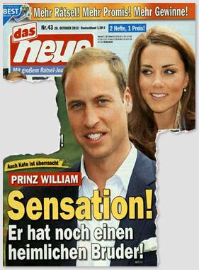 Auch Kate ist überrascht - Prinz William - Sensation! Er hat noch einen heimlichen Bruder!