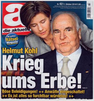 Helmut Kohl - Krieg ums Erbe! Böse Beleidigungen! Anwälte eingeschaltet! Es ist alles so furchtbar würdelos!