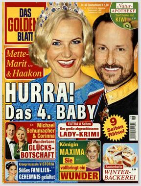 Mette-Marit & Haakon - Hurra! Das 4. Baby