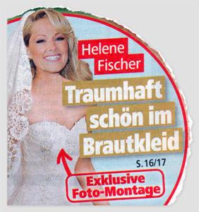 Helene Fischer - Traumhaft schön im Brautkleid - Exklusive Foto-Montage