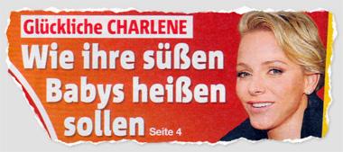Glückliche Charlene - Wie ihre süßen Babys heißen sollen