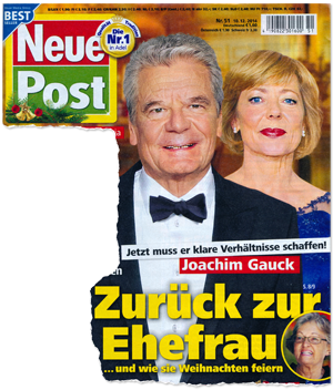 Jetzt muss er klare Verhältnisse schaffen! Joachim Gauck - Zurück zur Ehefrau ... und wie sie Weihnachten feiern
