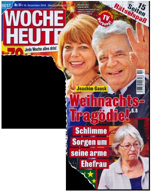 Joachim Gauck - Weihnachts-Tragödie! Schlmme Sorgen um seine arme Ehefrau