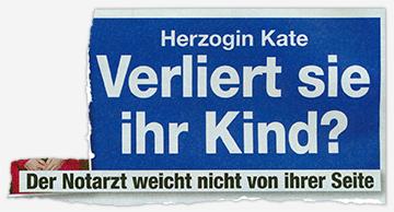 Herzogin Kate - Verliert sie ihr Kind? - Der Notarzt weicht nicht von ihrer Seite