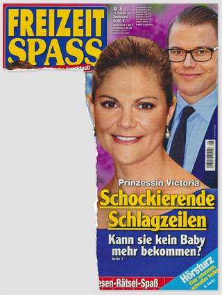 Prinzessin Victoria - Schickierende Schlagzeilen - Kann sie kein Baby mehr bekommen?