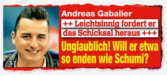 Andreas Gabalier - Leichtsinnig fordert er das Schicksal heraus - Unglaublich! Will er etwa so enden wie Schumi?