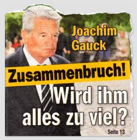 Joachim Gauck - Zusammenbruch! Wird ihm alles zu viel?