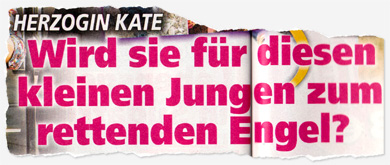 Herzogin Kate - Wird sie für diesen kleinen Jungen zum rettenden Engel?