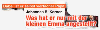 Dabei ist er selbst vierfacher Papa! Johannes B. Kerner - Was hat er nur mit der kleinen Emma angestellt?
