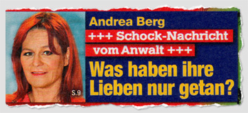 Andrea Berg - Schock-Nachricht vom Anwalt - Was haben ihre Lieben nur getan?