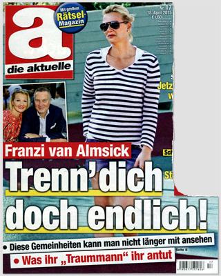 """Franzi van Almsick - Trenn' dich doch endlich! Diese Gemeinheiten kann man nicht länger mit ansehen - Was ihr """"Traummann"""" ihr antut"""