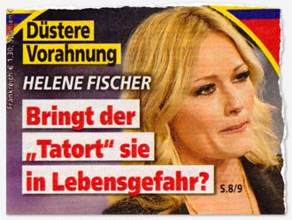 """Düstere Vorahnung - Helene Fischer - Bringt der """"Tatort"""" sie in Lebensgefahr?"""
