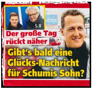 Der große Tag rückt näher - Gibt's bald eine Glücks-Nachricht für Schumis Sohn?