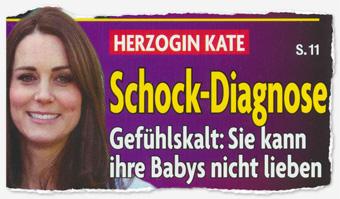 Herzogin Kate - Schock-Diagnose - Gefühlskalt: Sie kann ihre Babys nicht lieben