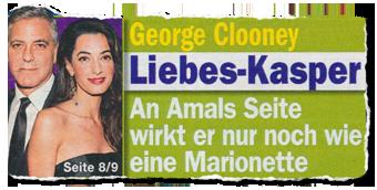 George Clooney - Liebes-Kasper - An Amals Seite wirkt er nur noch wie eine Marionette