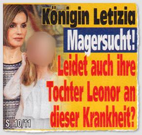Königin Letizia - Magersucht! Leidet auch ihre Tochter Leonor an dieser Krankheit?