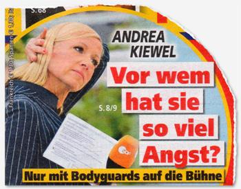 Andrea Kiewel - Vor wem hat sie so viel Angst? Nur mit Bodyguards auf die Bühne