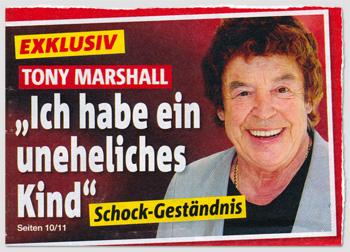 """Exklusiv - Tony Marshall - """"Ich habe ein uneheliches Kind"""" - Schock-Geständnis"""