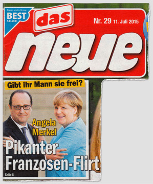 Gibt ihr Mann sie frei? Angela Merkel - Pikanter Franzosen-Flirt