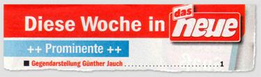 """Diese Woche in """"Das Neue"""": Gegendarstellung Günther Jauch auf Seite 1"""