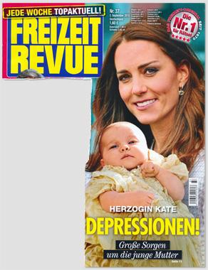 Herzogin Kate - Depressionen! Große Sorgen um die junge Mutter